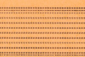 punched card for programming