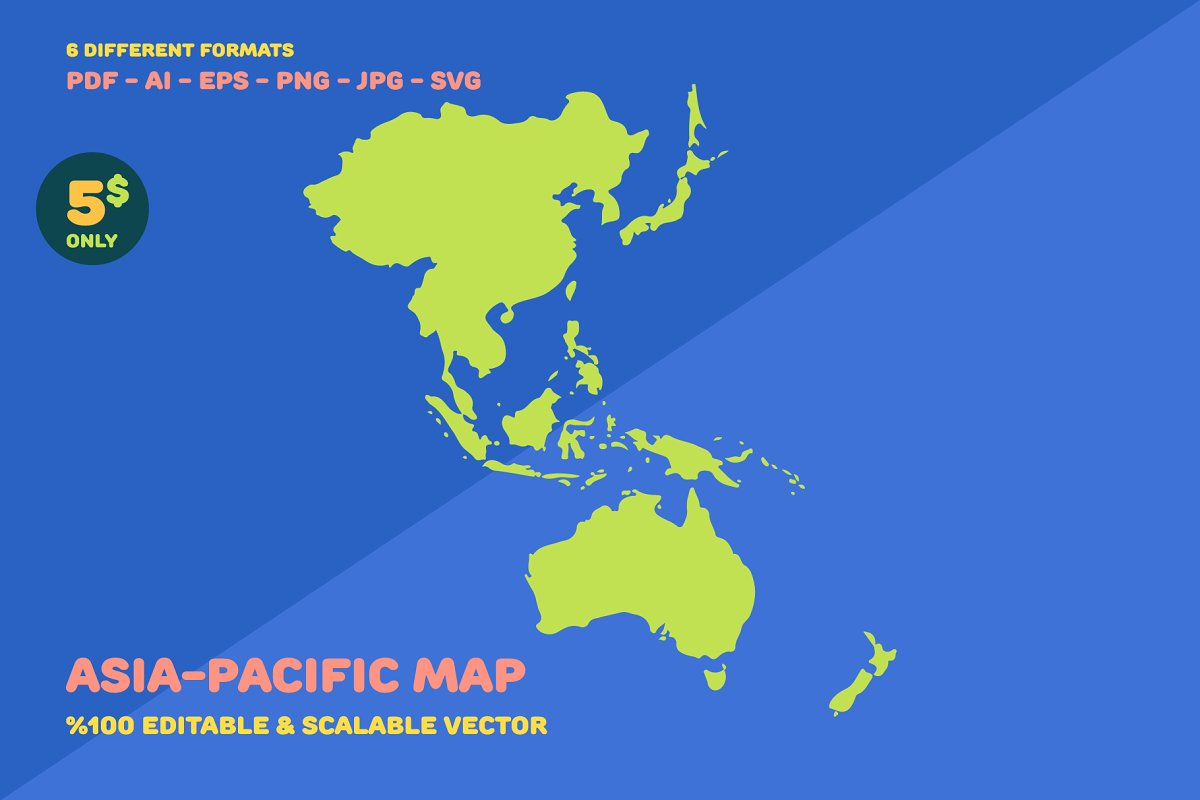 Map Of The Asia Pacific.Asia Pacific Map