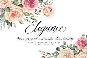 Elegance watercolor clipart