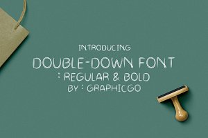 Double Draw Font
