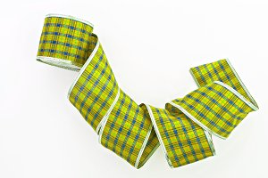 green decorative wrapping tape isola