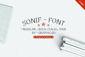 Sonif Font