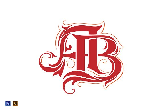 ab monogram logo template logo templates creative market