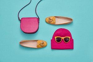 Autumn Fashion Lady Accessories Set,