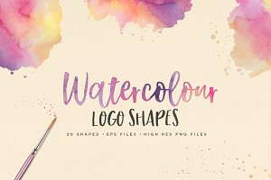30 Watercolor Shapes