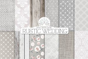 RUSTIC WEDDING digital paper