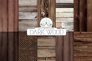 DARK WOOD digital paper