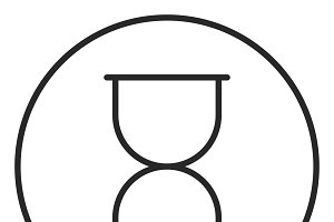 Hourglass stroke icon, logo