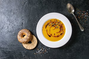 Pumpkin or carrot soup