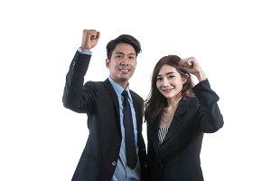 Portrait of asian couple businessman