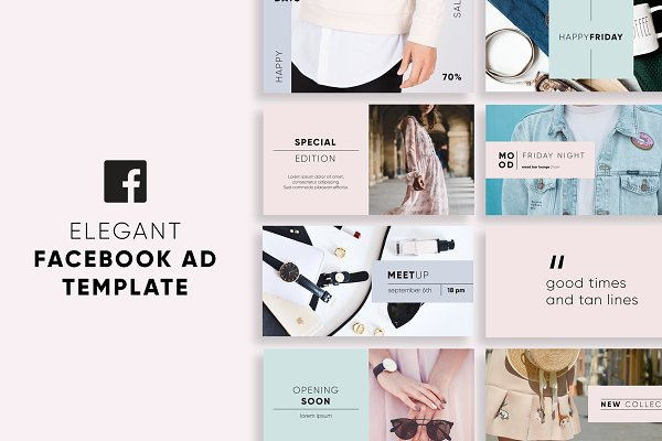 Social Media Templates: Wild Ones - Elegant Facebook Ad Templates