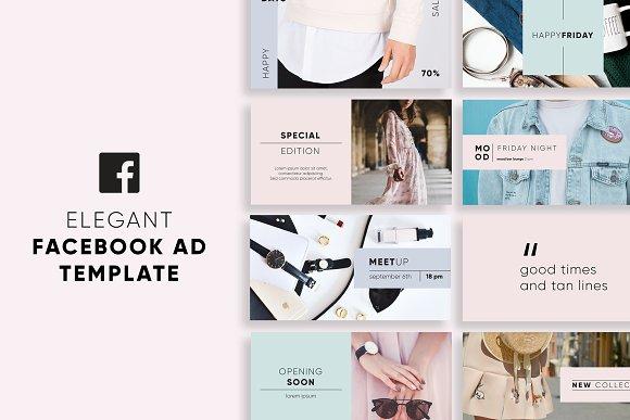 elegant facebook ad templates facebook templates creative market