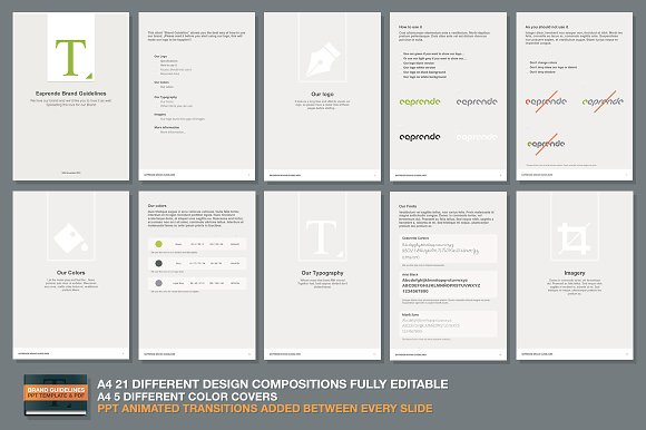 PPT Brand Guidelines Template ~ Presentation Templates ~ Creative Market