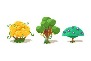 Fantasy trees and plants, nature