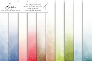 Ombre Watercolor Paper