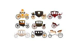 Retro carriages set, vintage