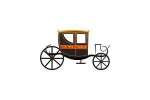 Retro carriage, antique vehicle