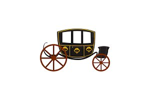 Retro carriage, wagon for traveling