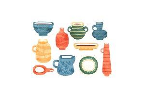 Tea time set, ceramic tableware for