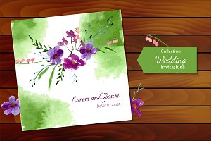 №4 Wedding invitations with magnolia