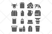 milk black icons
