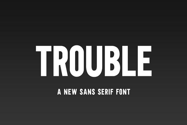 Fonts: Salt & Pepper Designs - Trouble Font
