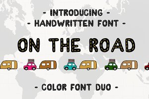 On The Road  OpenType-SVG Font