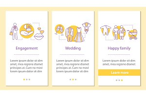 Family life cycle onboarding screen