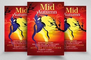 Mid Autumn Flyer Templates Vol: 11