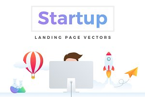 Startup Landing Page Vectors