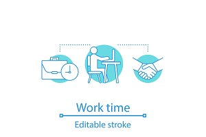 Working time concept icon