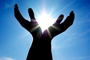 Sun in hands.