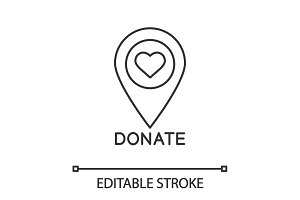 Charity organization location icon