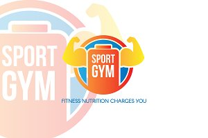 Sports GYM Nutrition Logo