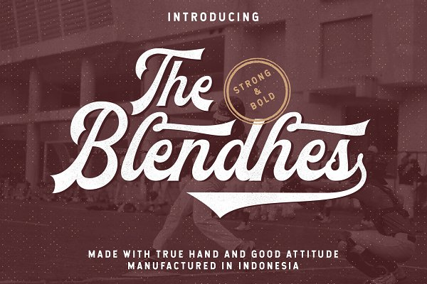 Script Fonts: YdhraStudio - The Blendhes - INTRO SALE 30%