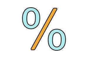 Percent color icon