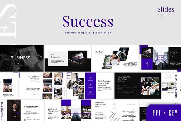 Success Template Presentation P K Templates Creative Market
