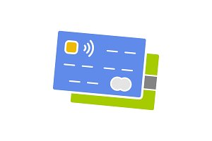 Credit cards glyph color icon