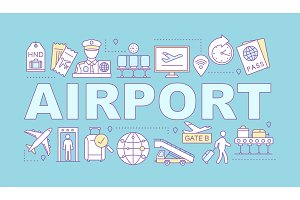 Airport service word concepts banner