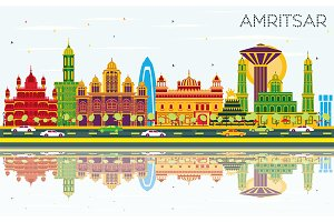 Amritsar India City Skyline