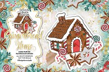 -50% SALE - Gingerbread house design