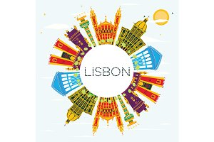 Lisbon Portugal City Skyline