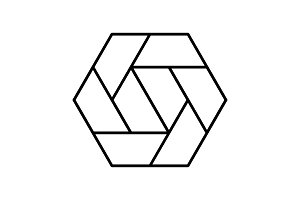 Hexagon icon. Polygon symbol. Vector