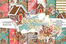 -50% Gingerbread house DP pack