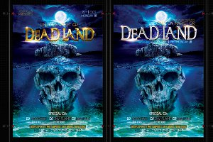 Dead Land Halloween Flyer