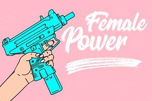 Female Power, Hand with Gun
