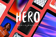 HERO Mobile Mockups Bundle by  in Product Mockups