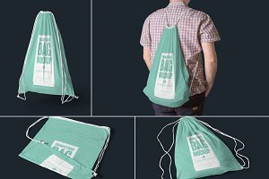 Drawstring Bag Mockups