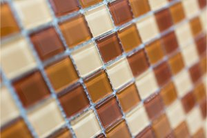 colorful modern mosaic tile in a