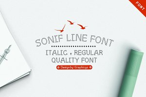Sonif Line Font